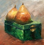 2 Pears on a Box